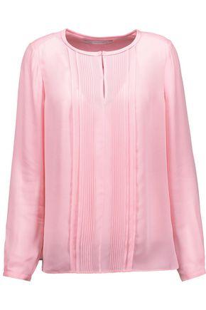 DIANE VON FURSTENBERG Meadow pleated silk blouse