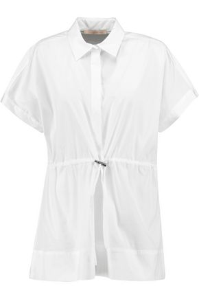 CHRISTOPHER KANE Gathered cotton-blend shirt