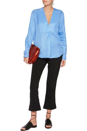 JIL SANDER Pleated silk blouse