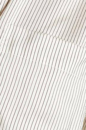JIL SANDER Vittoria striped silk shirt