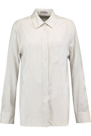 JIL SANDER Vittoria striped silk shirt