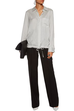 JIL SANDER Virna pinstriped silk shirt