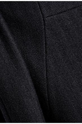 JIL SANDER Fluted herringbone wool top