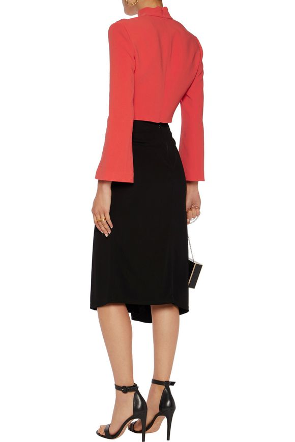 The Cheapest Sale Online Cinq À Sept Woman Amara Cropped Crepe Top Red Size 2 Cinq à Sept Cheap Real Finishline TpQBEXJ