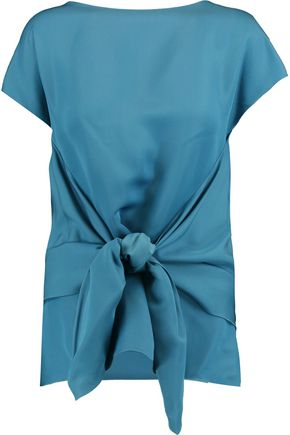 NINA RICCI Draped satin top