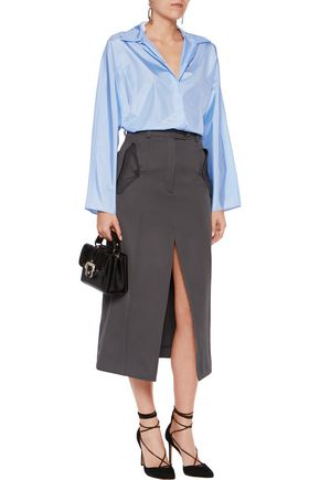 NINA RICCI Silk crepe de chine top