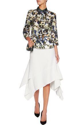 NINA RICCI Printed silk blouse