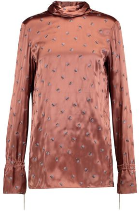 NINA RICCI Printed satin top