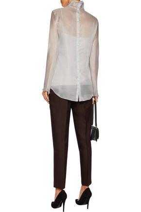 NINA RICCI Silk-organza shirt