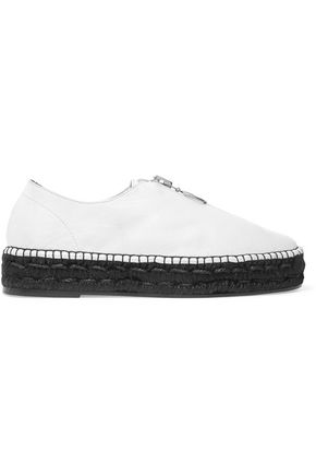 ALEXANDER WANG Devon leather espadrille sneakers