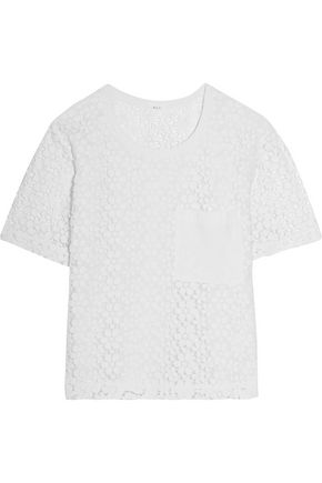 A.L.C. Guipure lace cotton top