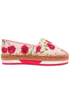 DOLCE & GABBANA Floral-print jacquard espadrilles