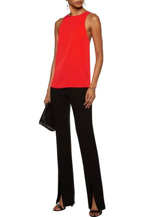 HALSTON HERITAGE Embellished silk-blend top