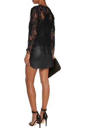 MICHELLE MASON Cotton-blend corded lace top
