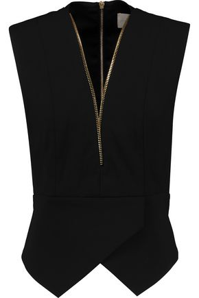 MICHELLE MASON Asymmetric stretch-poplin top