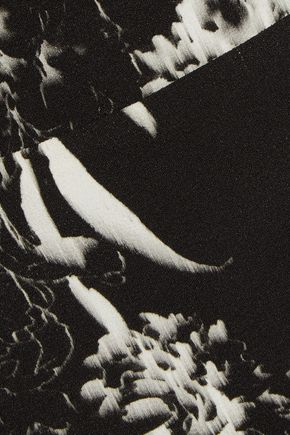 MICHELLE MASON Cutout leopard-print crepe top