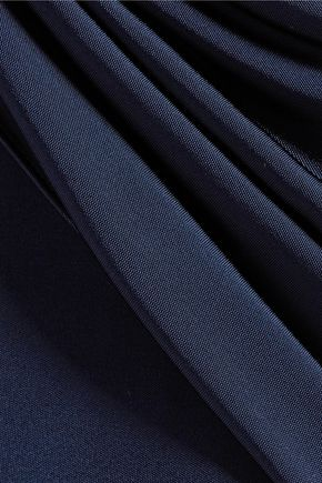 CUSHNIE ET OCHS Cutout crossover-front stretch satin-jersey top