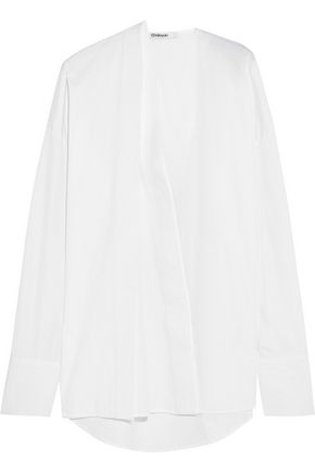 CHALAYAN Oversized cotton-poplin shirt