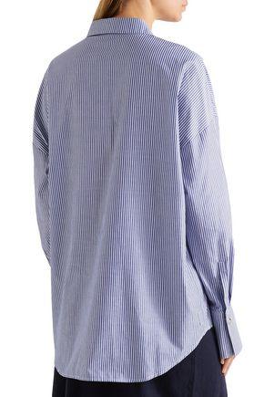 CHALAYAN Oversized striped cotton-poplin shirt