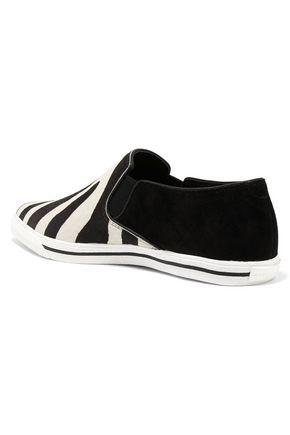 MARC JACOBS Zebra-print calf-hair sneakers