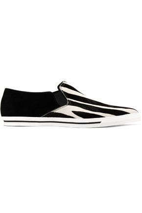 MARC JACOBS Zebra-print calf-hair sneakers