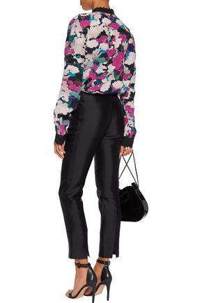 MARY KATRANTZOU Mica printed silk crepe de chine blouse