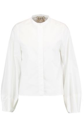 SEA Cotton-poplin blouse