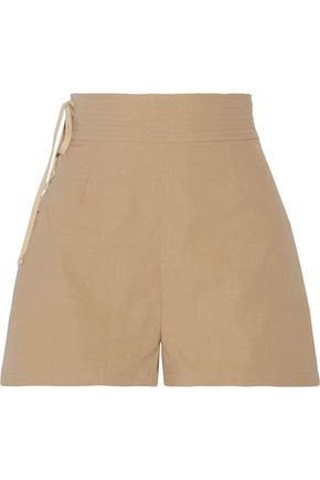 SEA Camper lace-up cotton-canvas shorts