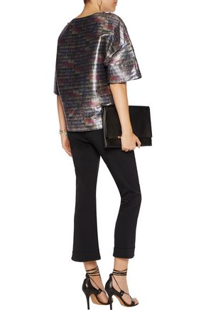 IRO Jamy oversized metallic cotton-blend top