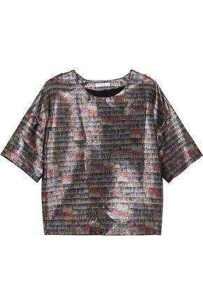 IRO Jamy oversized metallic cotton-blend top