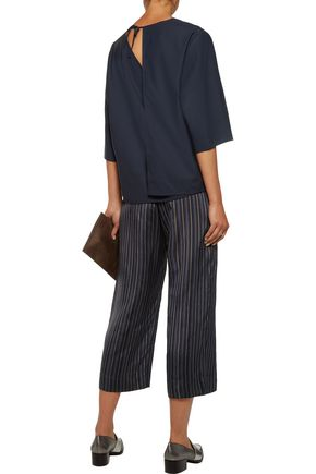 ACNE STUDIOS Mani Dry layered  stretch-wool crepe top