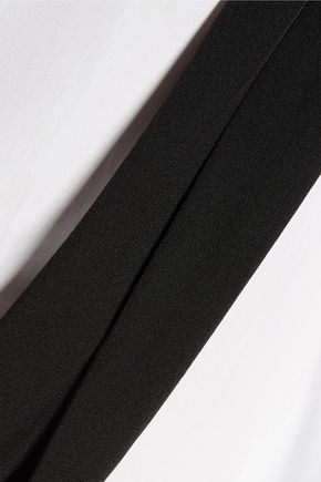 ACNE STUDIOS Corlette Pop silk crepe-trimmed cotton-poplin shirt