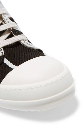 RICK OWENS DRKSHDW canvas high-top sneakers