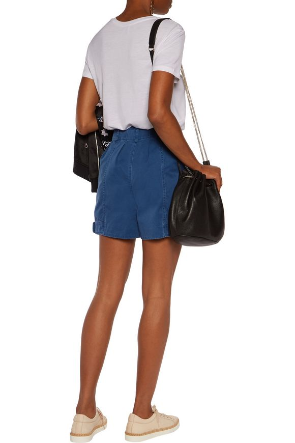 Pleated cotton-blend twill shorts | MARC BY MARC JACOBS | Sale up to 70%  off | THE OUTNET