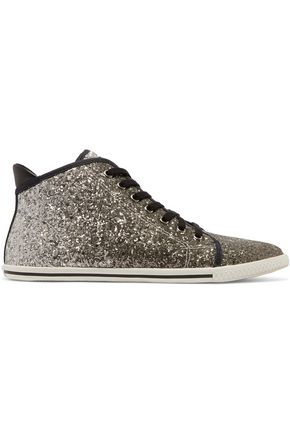 MARC BY MARC JACOBS Glittered canvas sneakers