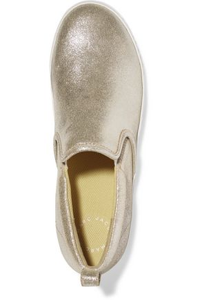MARC BY MARC JACOBS Metallic leather slip-on sneakers