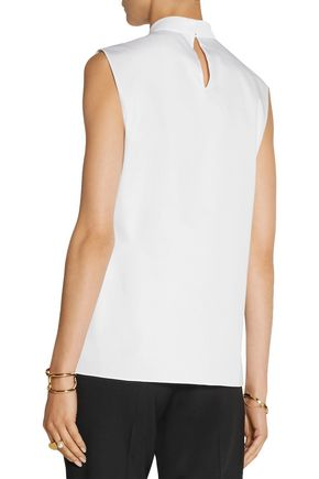JASON WU Draped cotton-twill top