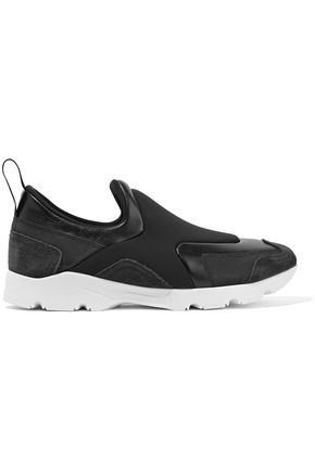 MM6 MAISON MARGIELA Leather and suede-trimmed neoprene sneakers