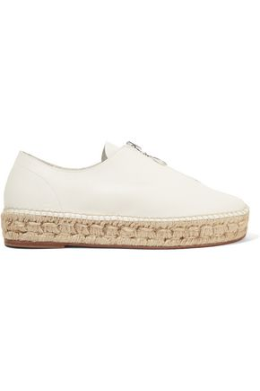 ALEXANDER WANG Devon leather espadrilles