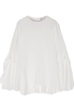 REBECCA VALLANCE Flagler ruffled crepe top