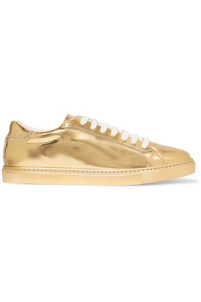 JUST CAVALLI Metallic patent-leather sneakers
