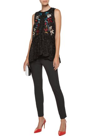 SACHIN & BABI Duncan embroidered lace top