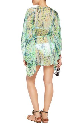 MATTHEW WILLIAMSON Draped printed coverup