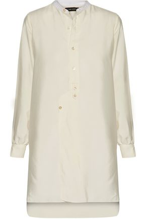 ISABEL MARANT Paolo cotton-trimmed silk-twill shirt
