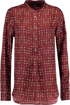 ISABEL MARANT Printed silk-satin shirt