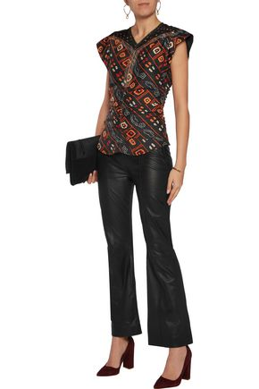 ISABEL MARANT Tova gathered printed silk top