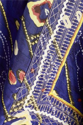 ISABEL MARANT Tyron embroidered printed silk-satin blouse