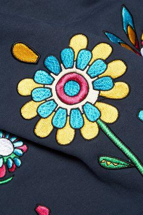 MIRA MIKATI Love Me embroidered cotton sweatshirt