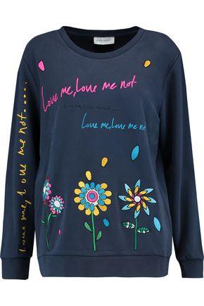 MIRA MIKATI Love Me embroidered cotton sweatshirt