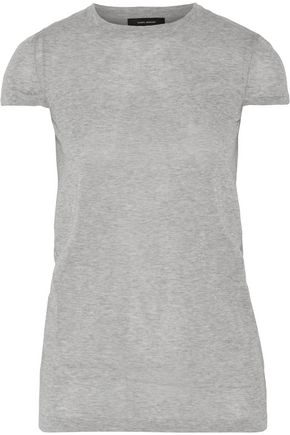 ISABEL MARANT Sepia cotton-blend T-shirt